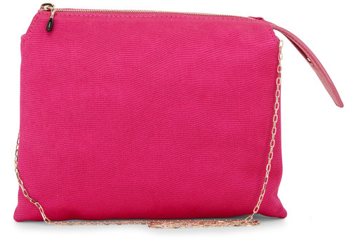 The Row  Mini Nu Twin Fuchsia Satin Crêpe Bag