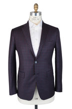 Mauro Blasi - Burgundy & Blue Check Wool Sportcoat