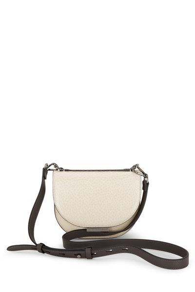 Brunello Cucinelli - Beige Glossy Textured Leather Monili Small Bag