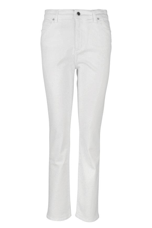 Kiton White Straight Leg Stretch Cotton Jean