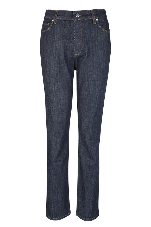 Kiton Dark Blue Stretch Cotton Jean