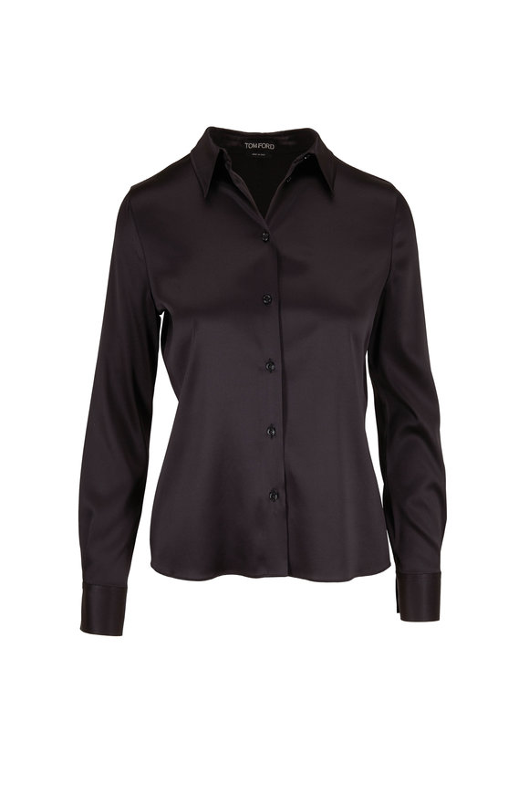 Tom Ford Classic Black Silk Button Down Shirt