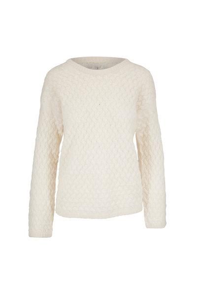 Jumper 1234 - Ivory Cashmere Basket Weave Sweater