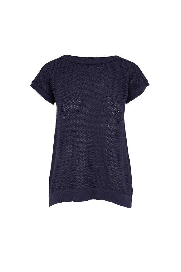 Kinross Eclipse Cotton Cap Sleeve Sweater