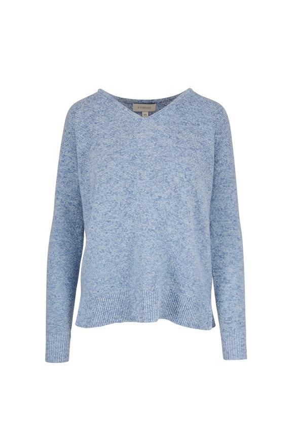 Kinross Easy Mirage Cotton V-Neck Sweater
