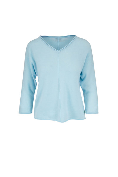 Kinross - Oasis Cashmere Seamed Front Sweater