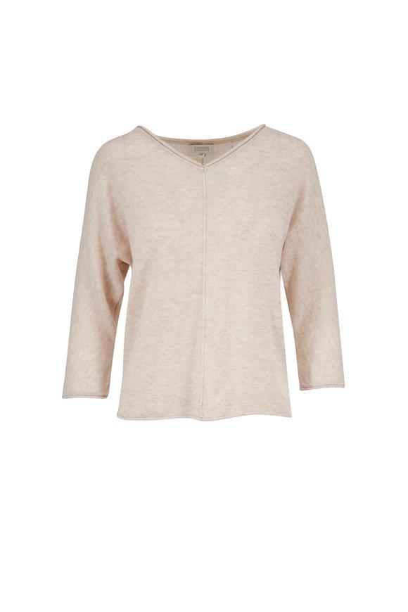 Kinross Desert Cashmere V-Neck Sweater