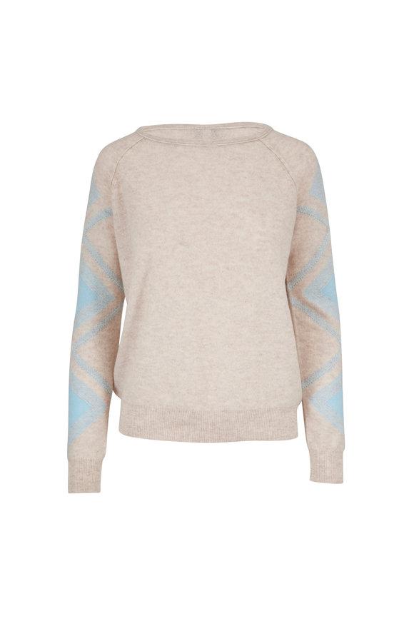 Kinross Desert & Oasis Cashmere Geometric Sleeve Sweater