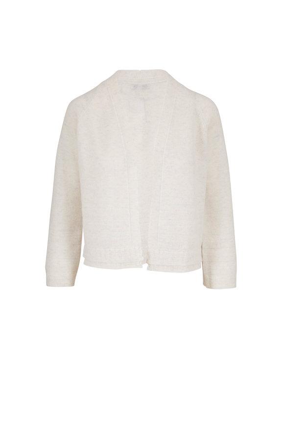 Kinross Whisper Cashmere Textured Cropped Cardigan