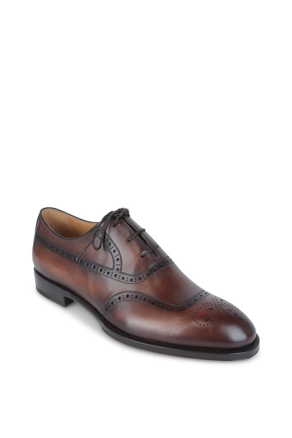 Berluti Dune Brown Leather Wingtip Oxford