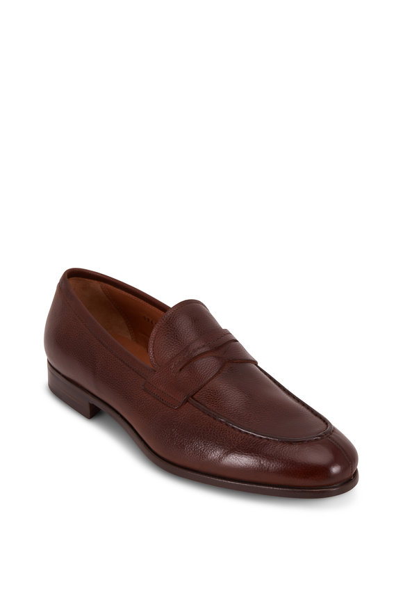 Gravati Ravello Rustico Grained Leather Penny Loafer