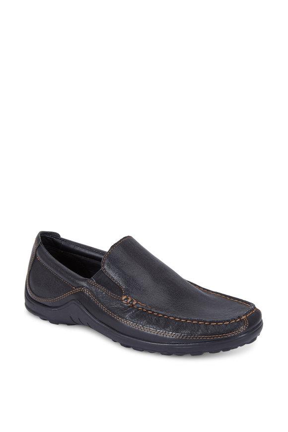 Cole Haan Tucker Black Leather Venetian Loafer