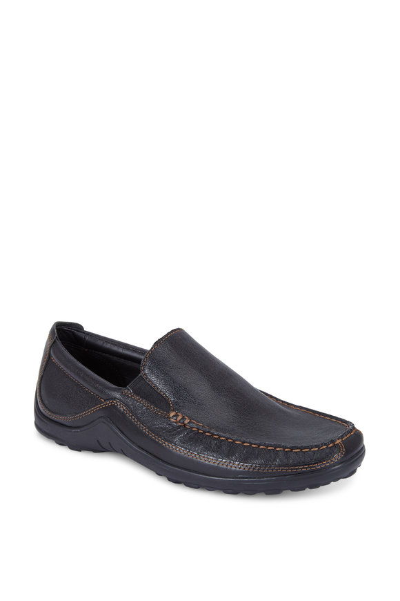 Cole Haan Tucker Black Leather Venetian Loafer