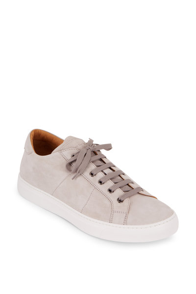 To Boot New York - Colton Light Gray Quilted Suede Sneaker