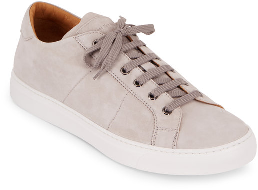 To Boot New York Colton Light Gray Quilted Suede Sneaker
