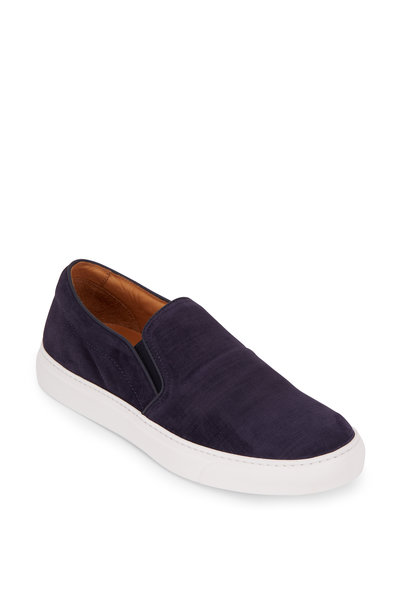 To Boot New York - Cordoba Blue Suede & Denim Slip-On Sneaker