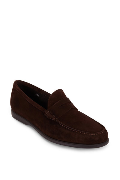 To Boot New York - Tribeca Dark Brown Suede Penny Loafer