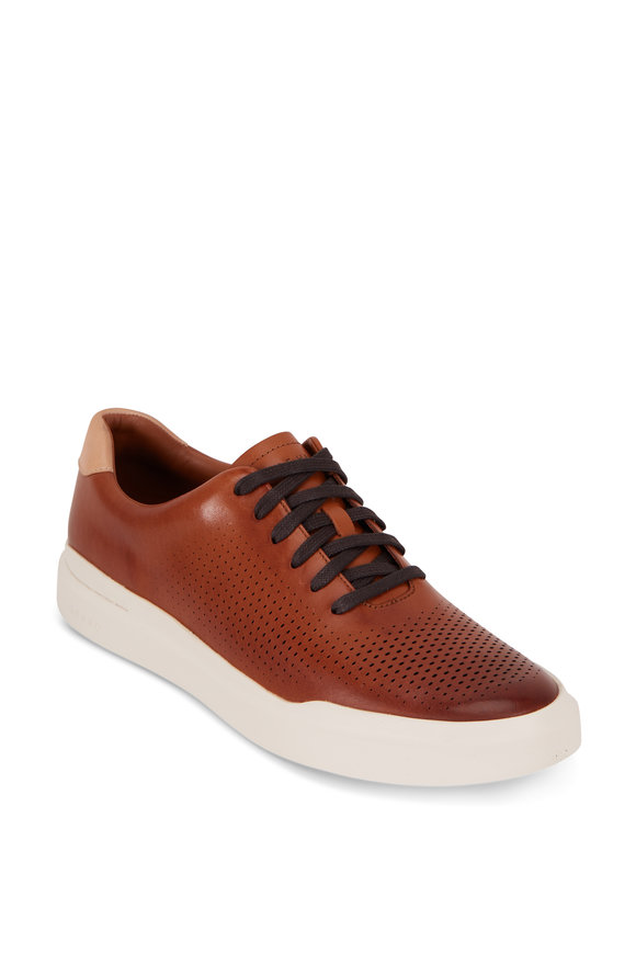 Cole Haan Grandpro British Tan Laser-Cut Leather Sneaker