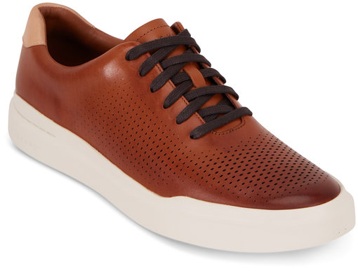 Cole Haan Grandpro British Tan Laser-Cut Leather Sneaker