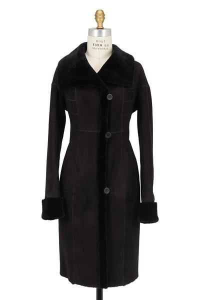 Viktoria Stass - Black Shearling Coat