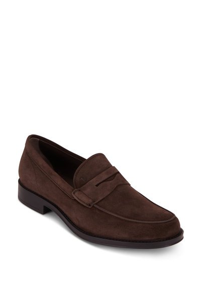 Tod's - Gomma Classico Brown Suede Penny Loafer