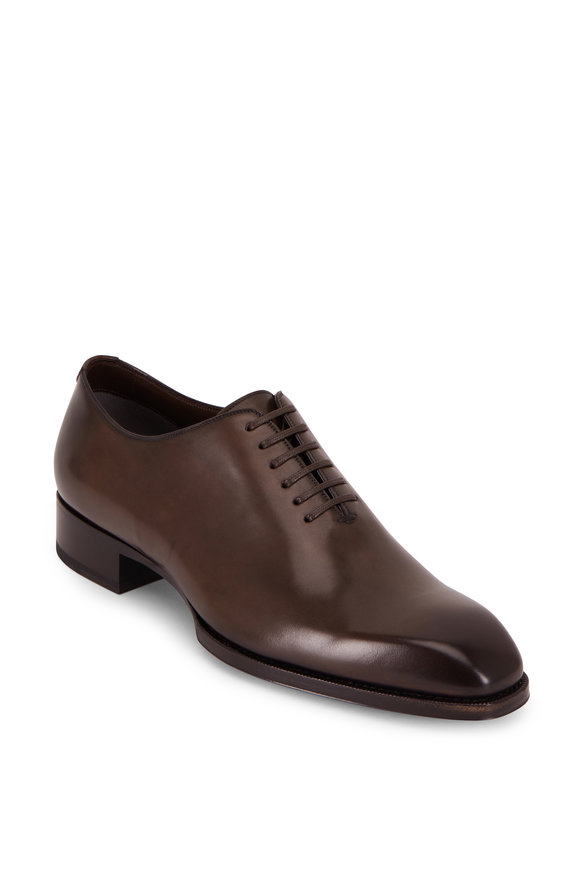 Tom Ford Military Burnished Leather Oxford