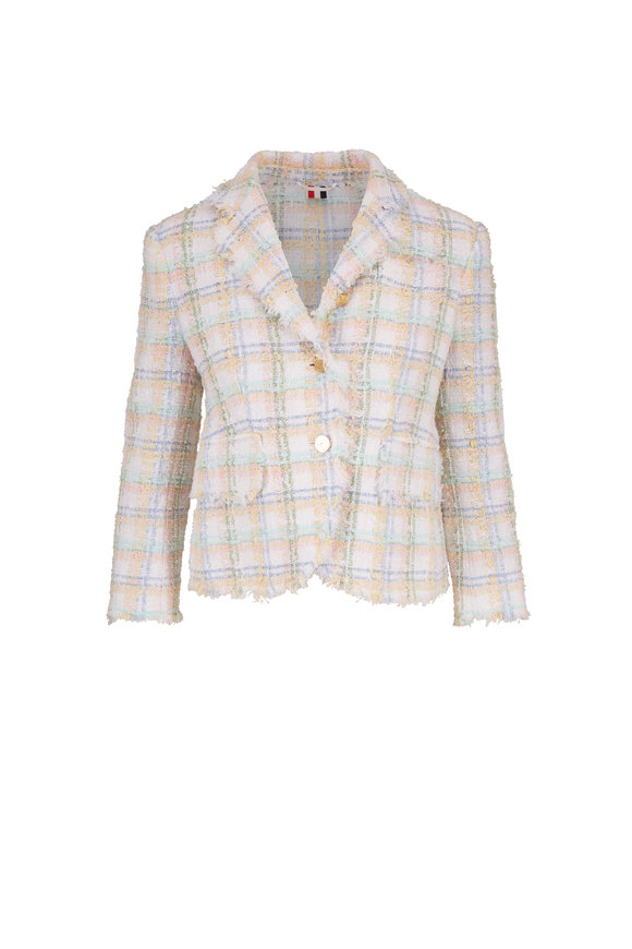 Thom Browne Multicolor Classic Plaid Ribbon Tweed Jacket