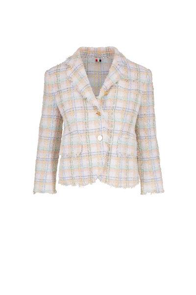 Thom Browne - Multicolor Classic Plaid Ribbon Tweed Jacket