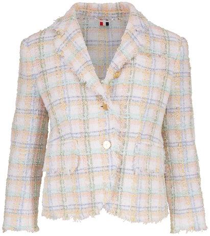 Thom Browne Multicolor Classic Plaid Ribbon Tweed Jacket