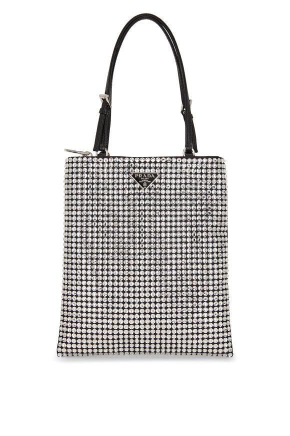 Prada Argento Silver Crystal Small Bag