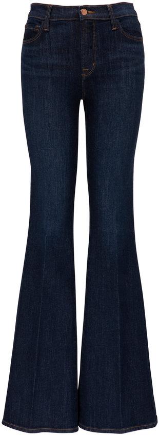 J Brand Valentina Everlast High-Rise Flare Jean