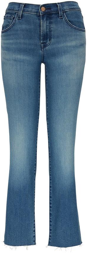 J Brand Adele Sorority Raze Mid-Rise Straight Leg Jean