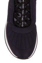 Fendi - FFreedom Navy Blue Nylon Quilted Sneaker