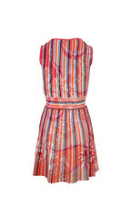Pucci - Pink Multicolor Ribbed Sleeveless Knit Dress