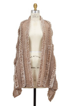 Viktoria Stass - Beige Knit & Fur Shawl