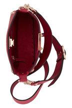 Valentino Garavani - Rockstud Raspberry Leather Mini Hobo Crossbody