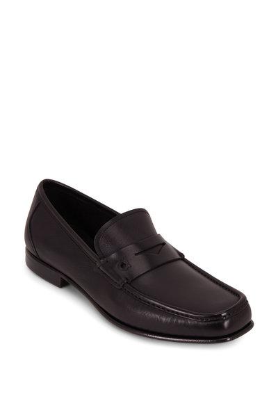 Salvatore Ferragamo - Sam Black Leather Penny Loafer