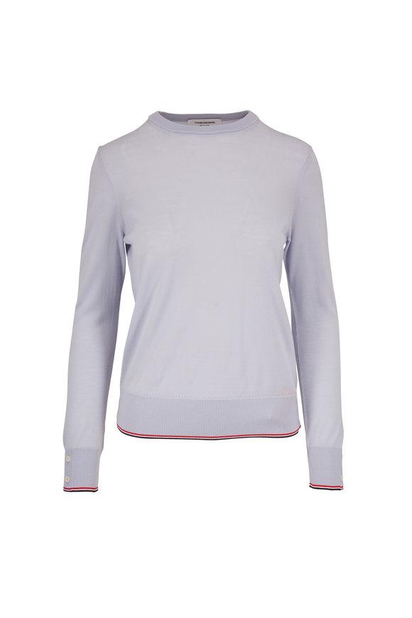 Thom Browne Light Blue Cashmere Crewneck Sweater