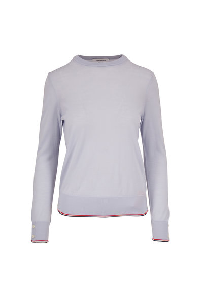 Thom Browne - Light Blue Cashmere Crewneck Sweater