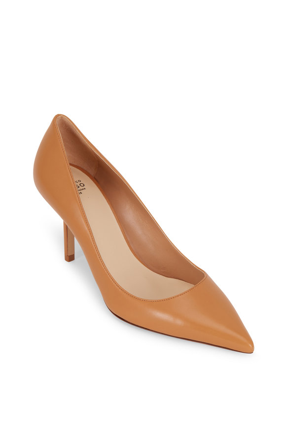Francesco Russo  Light Tan Nappa Leather Pump, 75mm