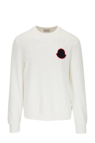 Moncler - White Logo Sweatshirt