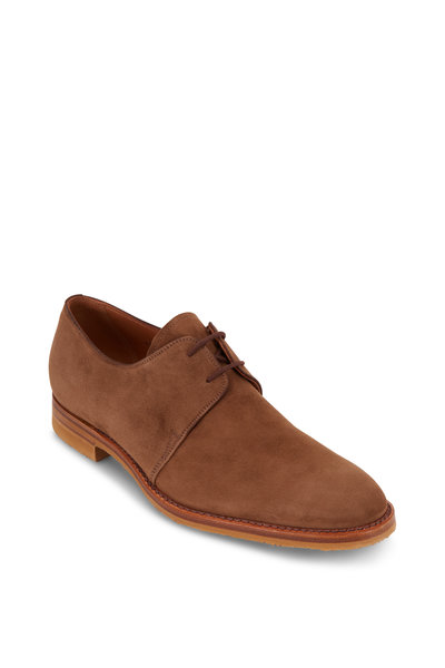 Gravati - Taupe Suede Two-Eyelet Derby Shoe