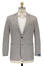 Peter Millar - Light Gray Houndstooth Wool Blend Sportcoat