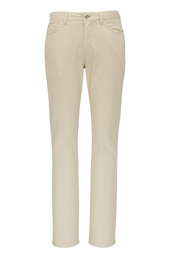 Peter Millar Crown Sand Sateen Five Pocket Pant