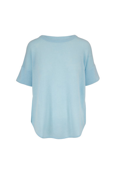 Kinross - Oasis Cashmere Dropped Short Sleeve Sweater