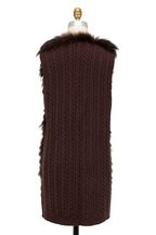 Viktoria Stass - Brown Fur & Cable Knit Combo Vest