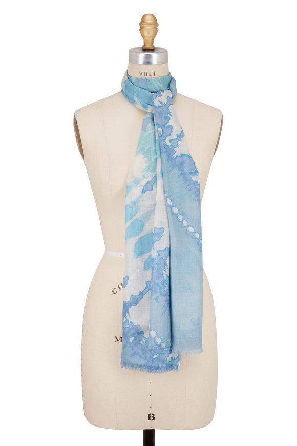 Kinross Opal Multi Tye Dye Print Scarf