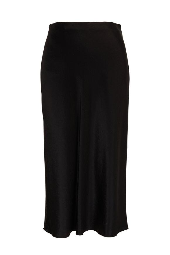Vince Black Satin Slip Skirt