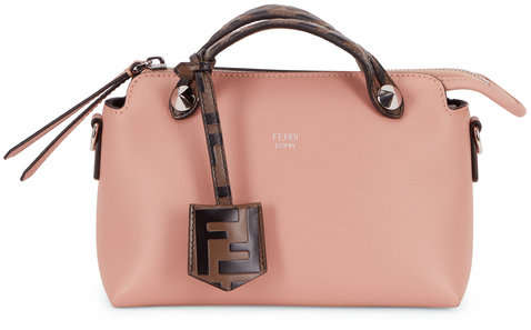 Fendi By The Way Pale Pink Leather Mini Crossbody