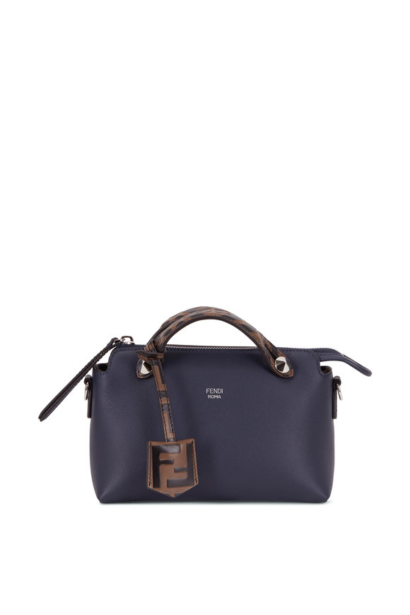 Fendi By The Way Navy Blue Leather Mini Crossbody
